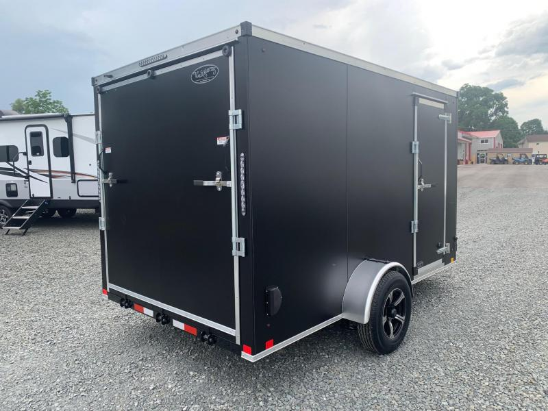 "2021 TRAILER MASTERS 7x12 3.5k Cargo / Enclosed Trailer - .040"" Aluminum Skin - Tube Frame & Studs & Crossmembers - Ramp Door - Aluminum Wheels - Sidewall Vents - Ramp Door Extension - Dexter Axles - Top of the Line Quality - Made in NY"