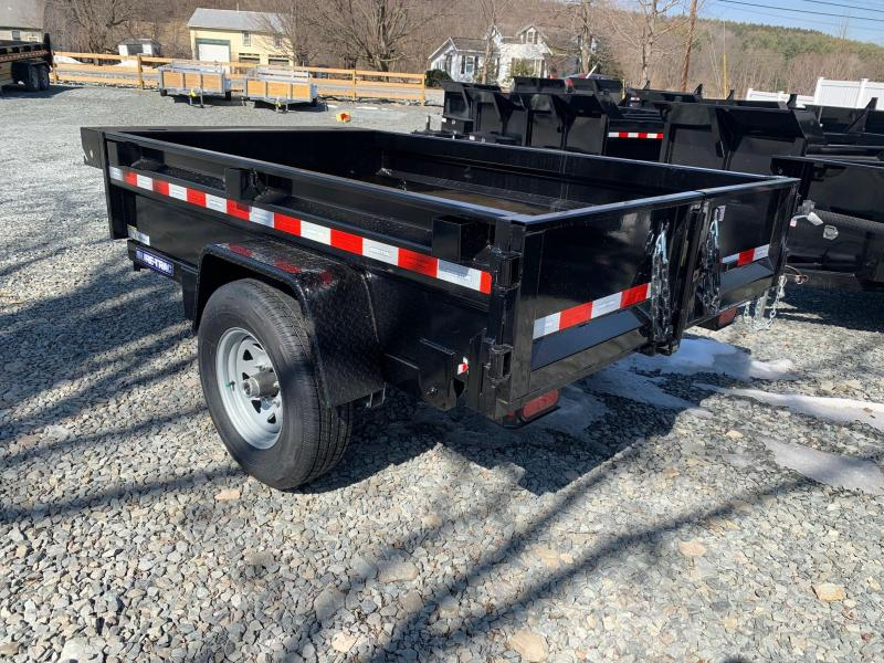 2021 SURE-TRAC 5x8 5k Dump Trailer - Barn Door - Setback Jack - Tarp Mounting Prep - Spare Tire Mount - Stake Pockets - D-Rings - ST6208D-B-050