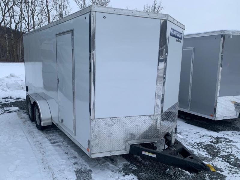 2021 SURE-TRAC 7x16 7k PRO SERIES WEDGE NOSE Cargo / Enclosed Trailer - Aluminum Wheels - Torsion Axles - Screwless Exterior - Plywood Walls - Tube Framed Walls - Ramp Door -  STW8416TA