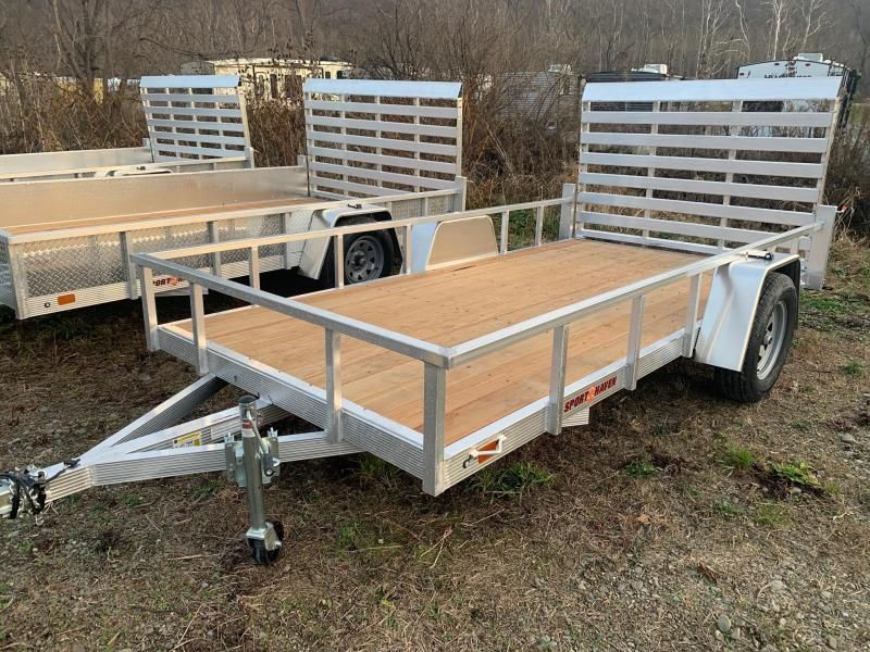 2021 SPORT HAVEN 6x12 3k Aluminum Utility Trailer with Wood Deck - AUT612