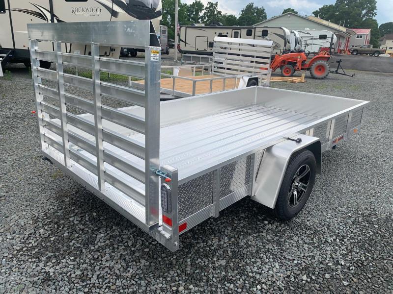 2021 SPORT HAVEN 6x12 Aluminum Utility Trailer with ATP Sides - Aluminum Deck - AUT612DS