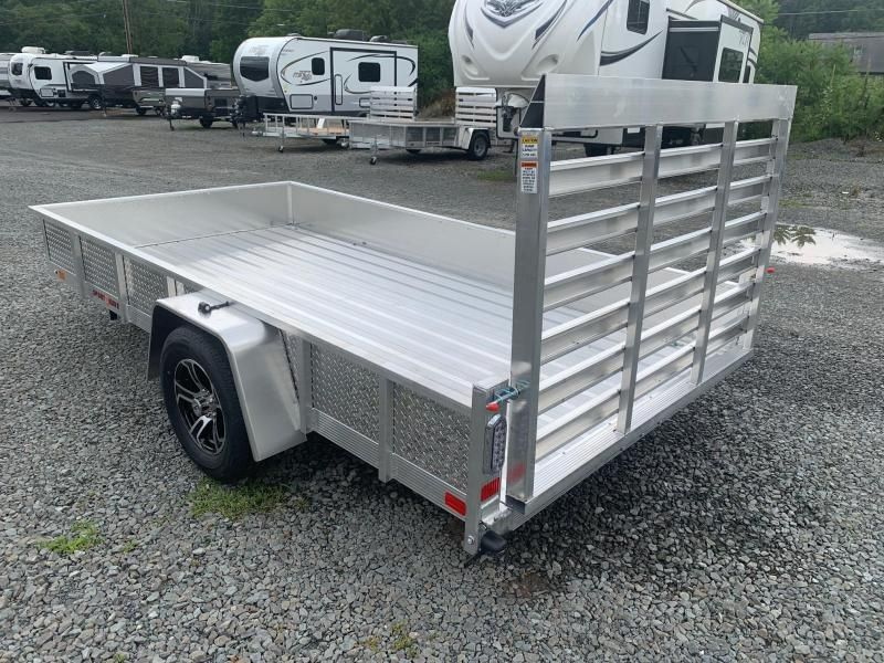 2021 SPORT HAVEN 6x12 Aluminum Utility Trailer with ATP Sides - Aluminum Deck - AUT612DS