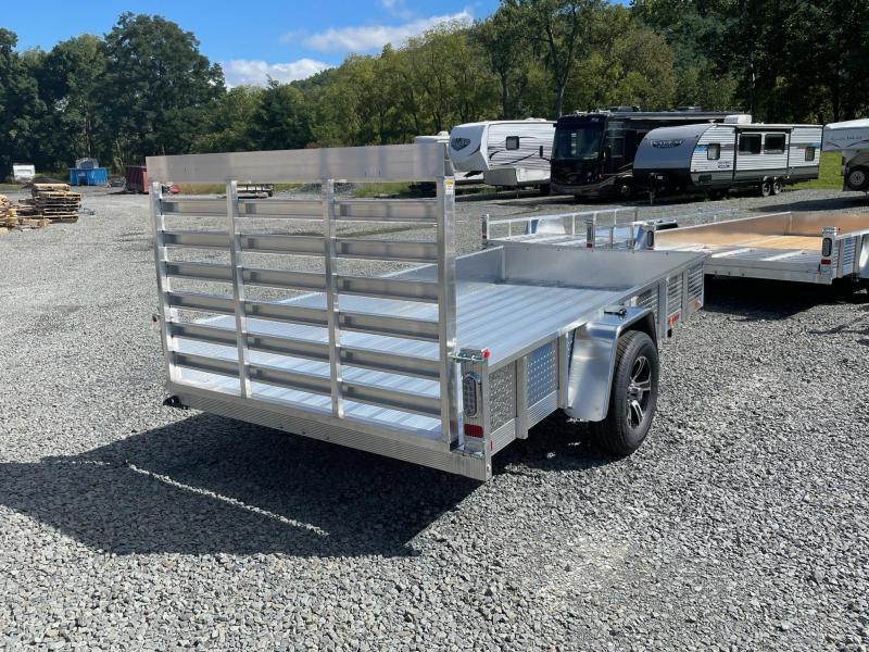 2022 SPORT HAVEN 6x12 3k Aluminum Tube Utility Trailer - Aluminum Deck - Aluminum Wheels - Torsion Axle - AUT612DS