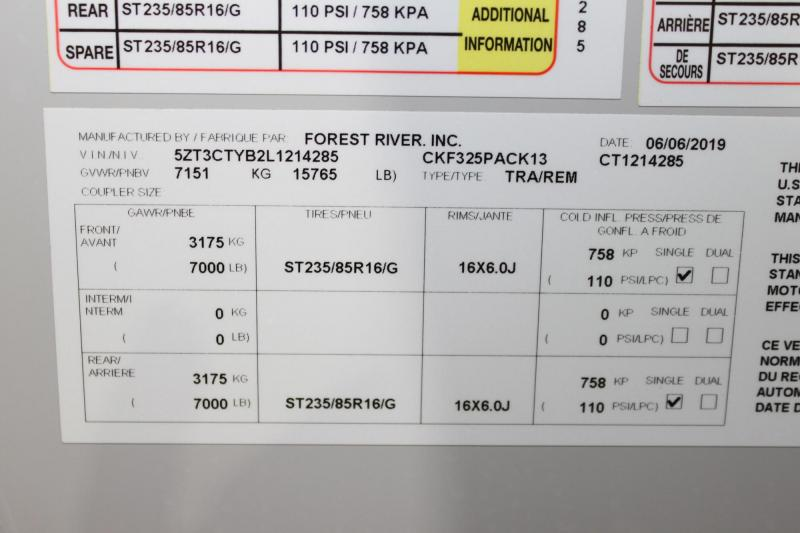 2020 Forest River Cherokee Wolf Pack 325PACK13 Fifth Wheel Camper
