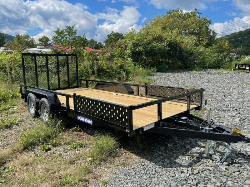 2022 SURE-TRAC 7x16 7k Tube Top Utility Trailer - ATV Side Ramps - Spring Assist Rear Ramp - Setback Jack - Reinforced Tongue - Protected Wiring - ST8216TATTV-B-070