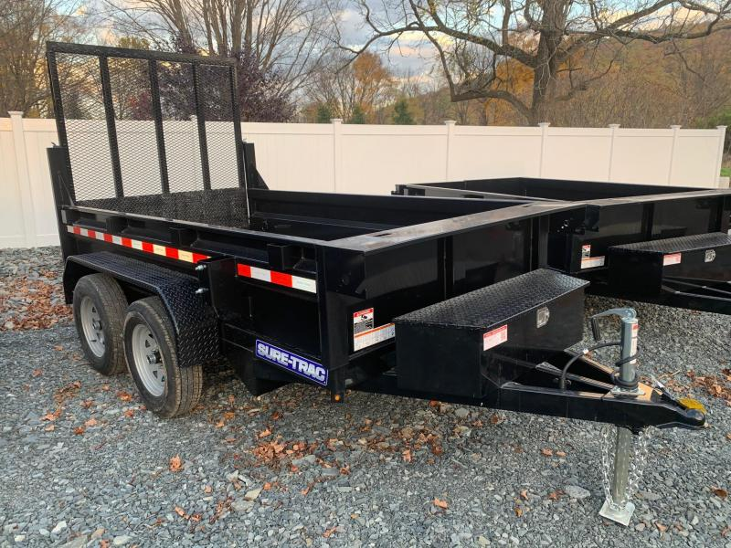 2021 SURE-TRAC 5x10 7k Dump Trailer with Landscape Gate - ST6210D-B-070