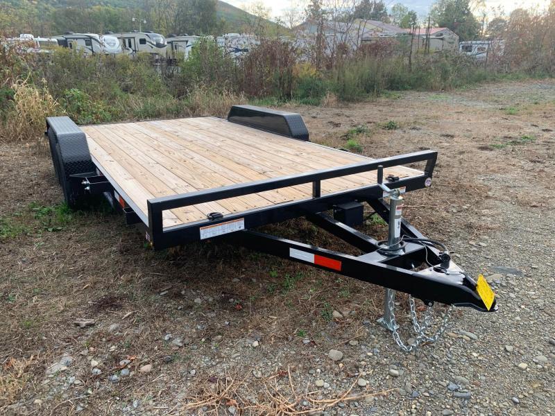 2020 SURE-TRAC 7x16 7k Wood Deck Car Trailer - ST8216CHW-B-070