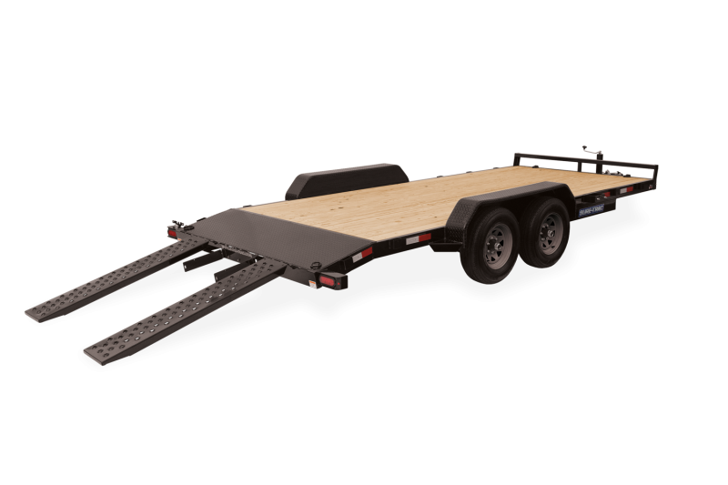 2020 SURE-TRAC 7x16 7k Wood Deck Car Trailer - ST8216CHW-B-070