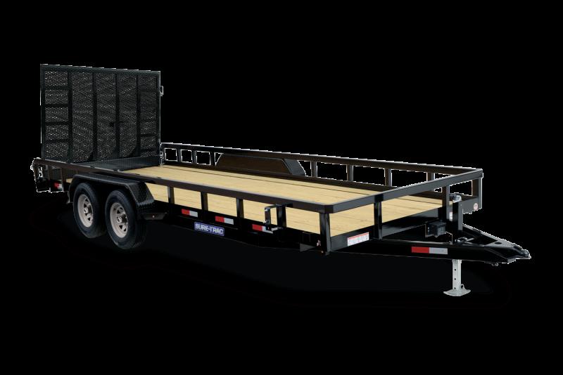 2021 SURE-TRAC 7x18 10k Tube Top Utility Trailer - ST8218TAT-B-100
