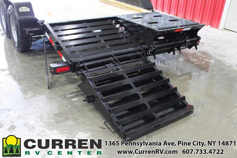 2021 SURE-TRAC 7x20 (17+3) 14k Equipment Trailer with Full Width Universal Ramps - ST82173URET-B-140