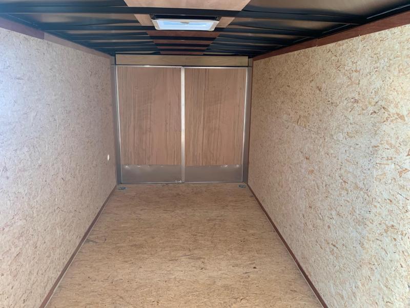 2022 LOOK Element SE 7x16 7k Cargo / Enclosed Trailer - Contractor Grade - Barn Doors - V Nose - Bar Lock Sidedoor - Screwless Exterior - EWLC7X16TE2SE
