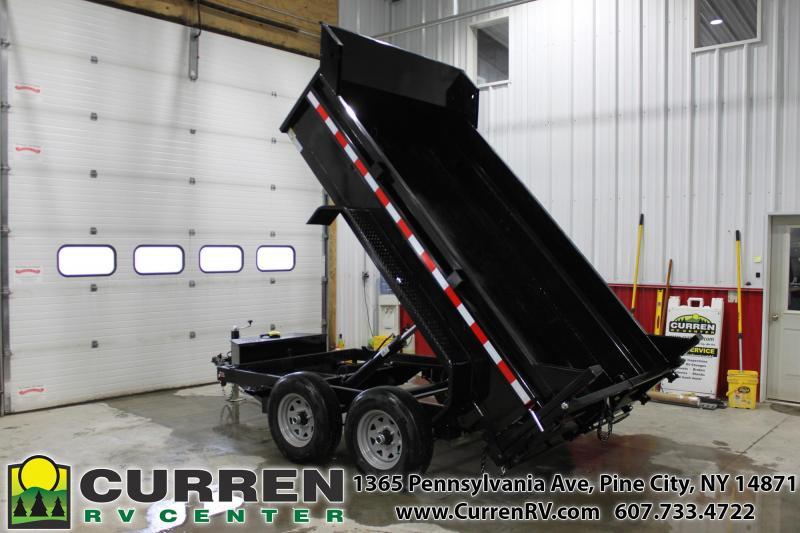 2021 SURE-TRAC 6x10 10k Low Profile Dump Trailer - Ramps - Combo Gate - ST7210D1R-B-100