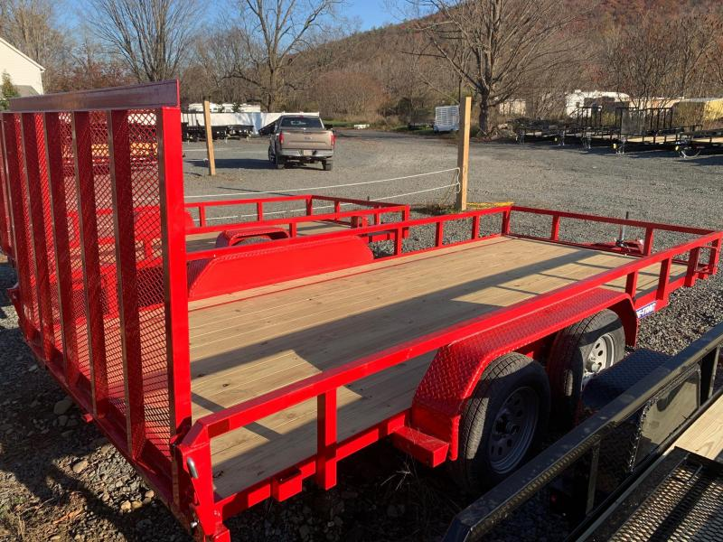 2021 SURE-TRAC 7x16 7k Tube Top Utility Trailer - Red - ST8216TAT-B-070