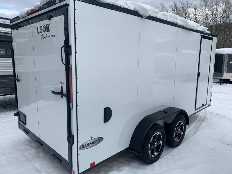 2021 LOOK ELEMENT SE 7X16 7K Cargo / Enclosed Trailer - WHITE WITH BLACKOUT TRIM - EWLC7X16TE2SE