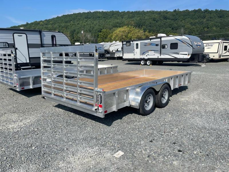 2022 SPORT HAVEN 7x16 Aluminum Tube Top Utility Trailer with ATP Sides - AUT716TS