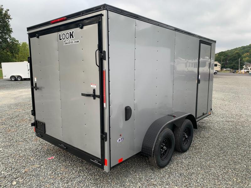 2021 Look ST DLX 7x14 7k Cargo / Enclosed Trailer - Silver with Blackout Trim Package - STLC7X14TE2DLX