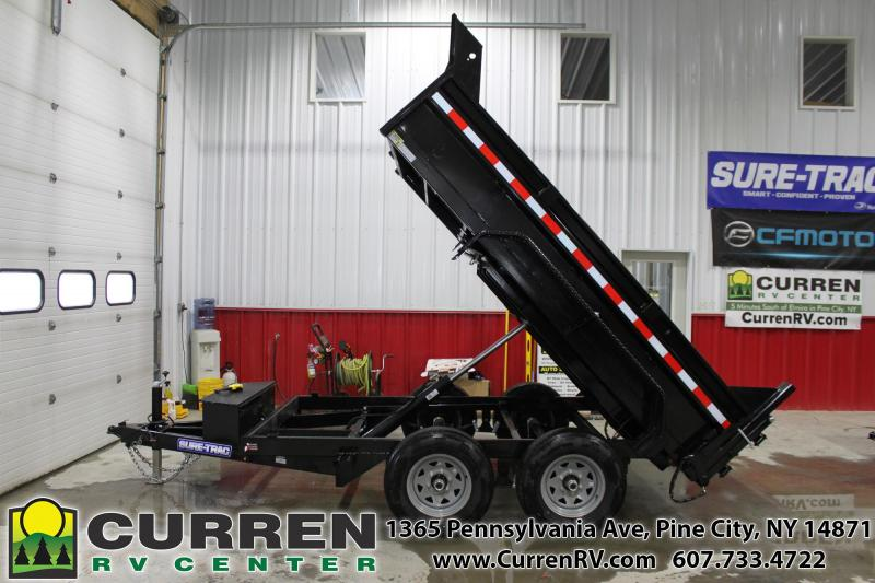 2021 SURE-TRAC 6x10 10k Low Profile Dump Trailer - Ramps - Combo Gate - ST7210D1R-B-100***DUE EARLY DEC Dump Trailer