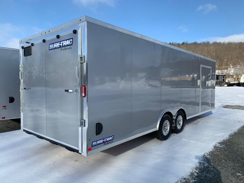 2021 SURE-TRAC 8.5x24 10k PRO SERIES WEDGE CAR HAULER - Cargo / Enclosed Trailer - Aluminum Wheels - 4100 lb Ramp - STW10224TA-100
