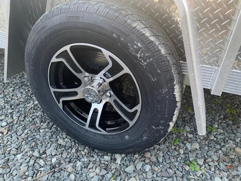 2021 SPORT HAVEN 6x12 3k Aluminum Utility Trailer - Aluminum Deck - Aluminum Wheels - ATP Sides - AUT612DS