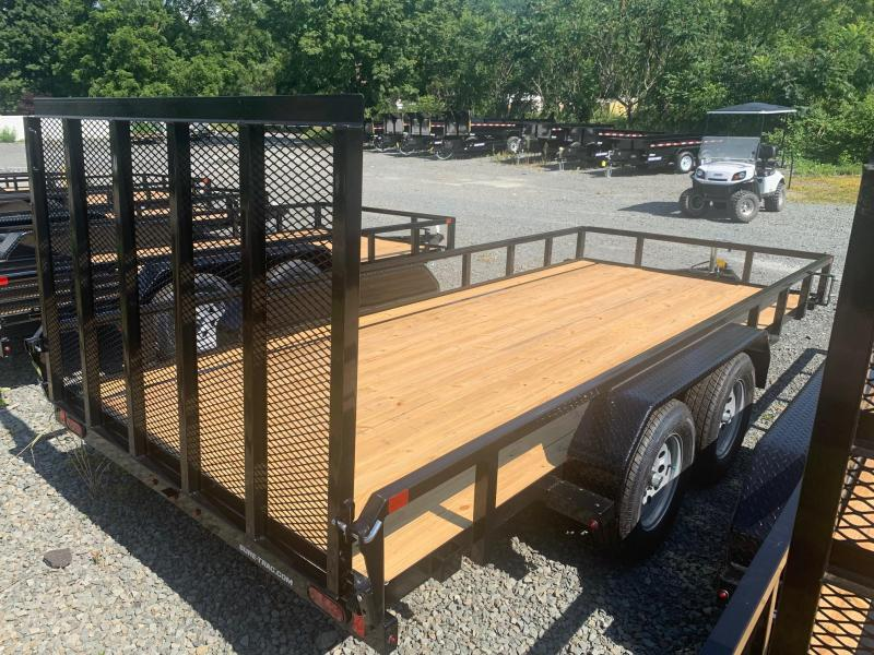 2021 SURE-TRAC 7x16 7k Tube Top Utility Trailer - Spring Assist Ramp - Spare Tire Mount - Recessed Jack - Reinforced Tongue - ST8216TAT-B-070