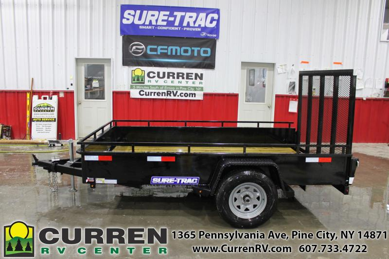 2021 SURE-TRAC 6x10 3k Steel High Side Utility Trailer - ST7210HSA-B-030