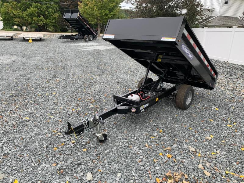 2021 SURE-TRAC 4.5x8 3k Utility Dump Trailer with Ramps - ST5408D-B-030