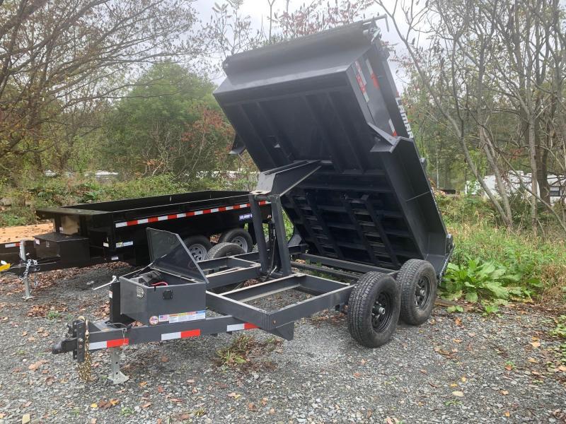 2021 LAMAR 6.5x10 10k Dump Trailer - Drop Leg Jack - Tarp Kit - Scissor Lift - Adjustable Coupler - D-Rings - Charger - Rigid Rails - Powder Coat Paint - Ramps - DM771025