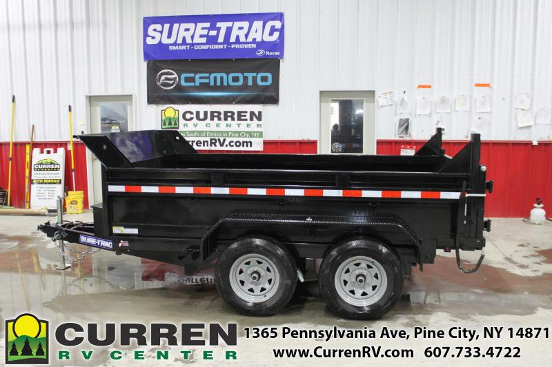 2021 SURE-TRAC 6x10 7k Low Profile Dump Trailer - Ramps - Combo Gate - ST7210D1R-B-070