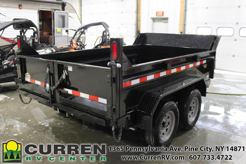 2021 SURE-TRAC 6x10 7k Low Profile Dump Trailer - Ramps - Combo Gate - ST7210D1R-B-070