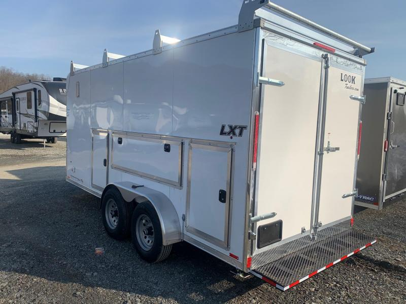2021 Look LXT 7x16 10k Millhouse Tool Barn Cargo / Enclosed Trailer - Roof Rack with Ladder - Tool Storage - Work Bench - Electrical Package - LXT7X16TE3-TBN