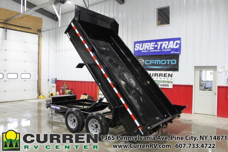 2021 SURE-TRAC 6x12 10k Low Profile Dump Trailer - Ramps - Combo Gate - ST7212D1R-B-100