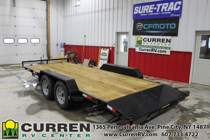 2020 SURE-TRAC 7x18 7k Car Trailer - ST8218CHW-B-070
