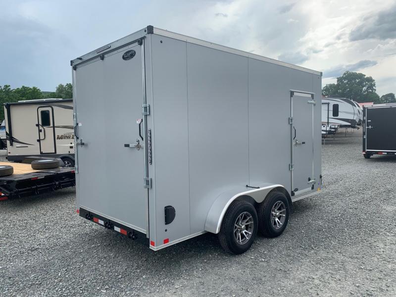 "2021 TRAILER MASTERS 7x14 7k Cargo / Enclosed Trailer - .040"" Aluminum Skin - Tube Frame & Studs & Crossmembers - Ramp Door - Aluminum Wheels - Sidewall Vents - Ramp Door Extension - Dexter Axles - Top of the Line Quality - Made in NY"
