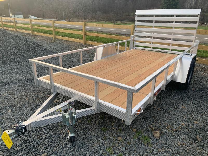 2021 SPORT HAVEN 6x12 3k Aluminum Utility Trailer with Wood Deck - AUT612