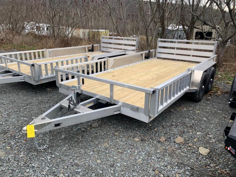 2021 SURE-TRAC 7x14 7k Aluminum ATV Utility Trailer - Bi Fold Rear Ramp - ATV Side Ramps - Aluminum Wheels - ST8214TAT-A-070