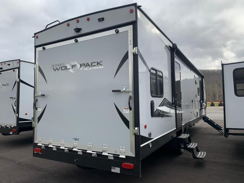 2021 Forest River CHEROKEE WOLF PACK PLATINUM 25PACK12+ Travel Trailer Toy Hauler