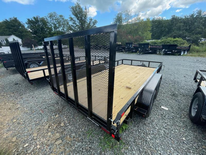 2022 SURE-TRAC 7x14 7k Tube Top Utility Trailer - Spring Assist Rear Ramp - Setback Jack - Reinforced Tongue - Protected Wiring - ST8214TAT-B-070