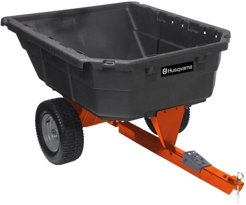 HUSQVARNA 12.5 CU FT POLY SWIVEL DUMP CART