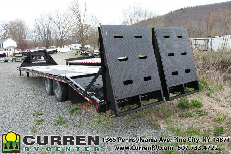 2019 SURE-TRAC 8.5x27+5  22.5k Beavertail Gooseneck Equipment Trailer -  ST102275LPDO2A-GN-225