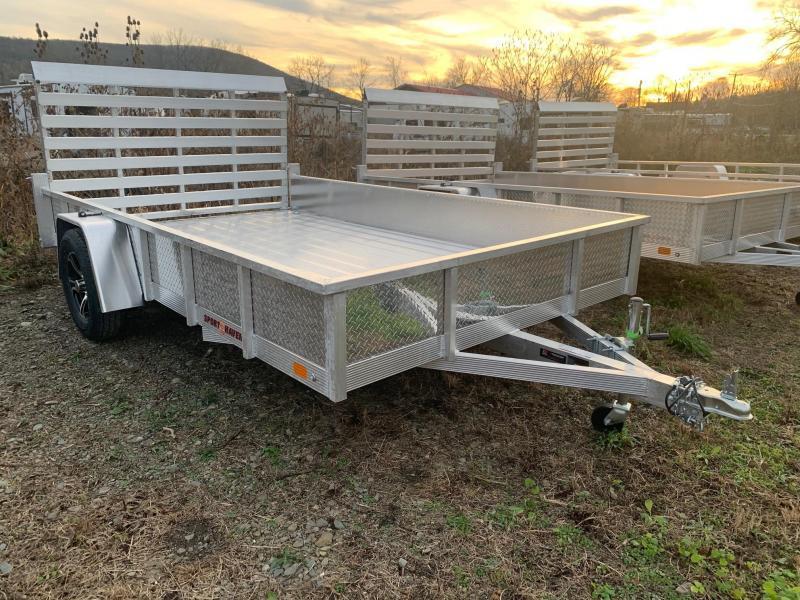 2021 SPORT HAVEN 7x12 3k Aluminum Utility Trailer - Aluminum Deck - Aluminum Wheels - ATP Sides - AUT712DS