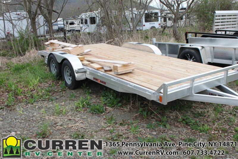 2020 SPORT HAVEN 7x18 Wood Deck Aluminum Car Trailer - AOC1870T