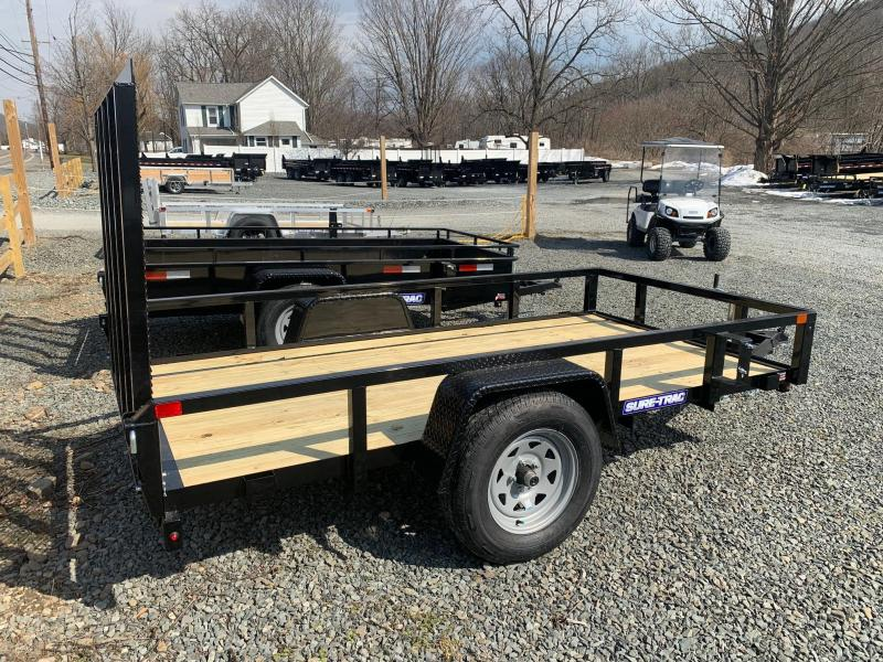 2021 SURE-TRAC 5x10 3k Tube Top Utility Trailer - Spring Assist Ramp - Spare Tire Mount - Setback Jack - ST6210TA-B-030