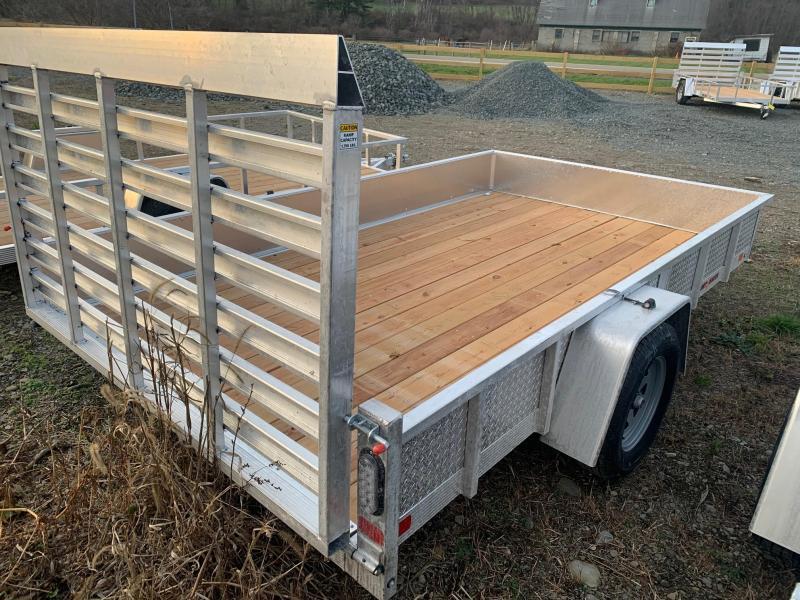 2021 SPORT HAVEN 7x12 3k Aluminum Utility Trailer - Wood Deck - ATP Sides - AUT712S