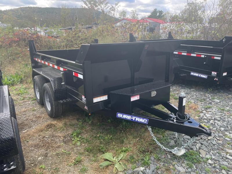 2021 SURE-TRAC 6x10 10k Dump Trailer - Ramps - Combo Gate - D-Rings - Bulkhead - ST7210D1R-B-100