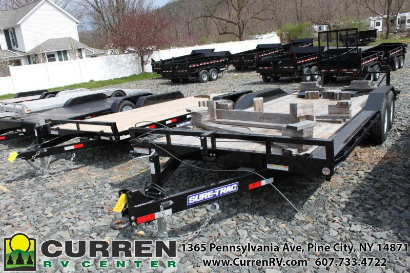 2019 SURE-TRAC 8.5x20 14k Low Profile with Drive Over Fenders Equipment Trailer -  ST10220FWDF-B-140