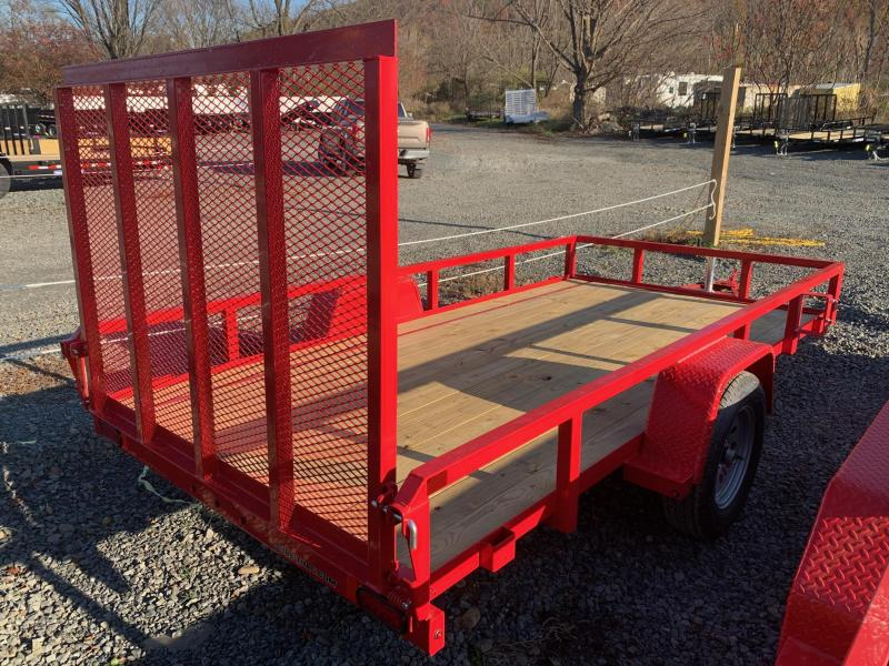 2021 SURE-TRAC 6x12 Tube Top Utility Trailer - Red - ST7212TA-B-030