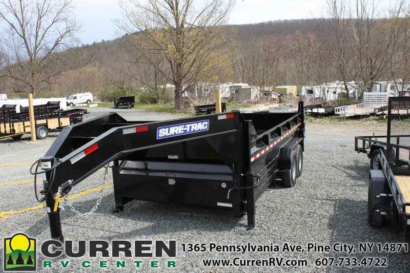 2020 SURE-TRAC 7x14 14k Gooseneck Dump Trailer - ST8216HLOD-GN-140