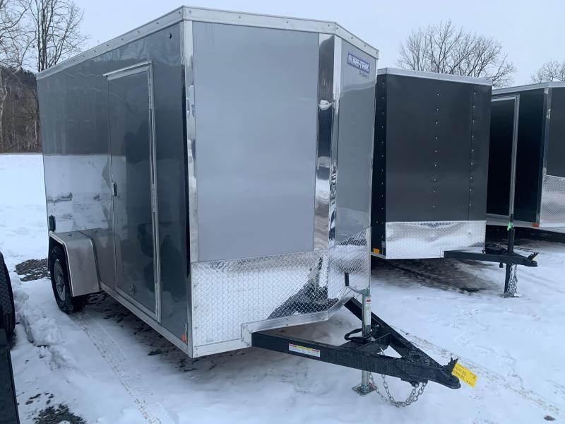 2021 SURE-TRAC 6x12 3k PRO SERIES WEDGE Nose Cargo / Enclosed Trailer - Ramp Door - Aluminum Wheels - Plywood Walls - Tube Framed Walls - STW7212SA