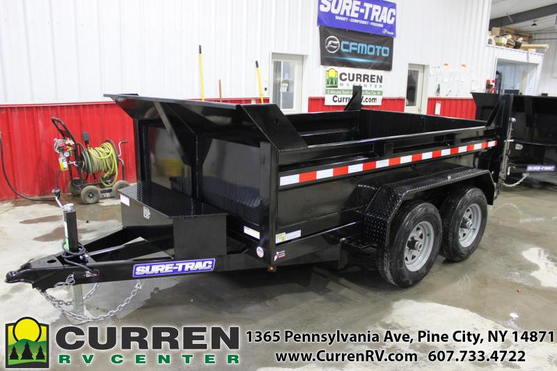 2021 SURE-TRAC 6x10 10k Low Profile Dump Trailer - Ramps - Combo Gate - ST7210D1R-B-100