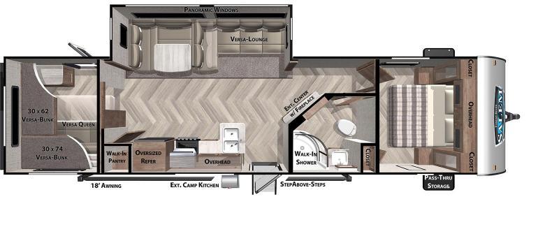 2021 SALEM 29VBUD Travel Trailer - Bunkhouse - Versa Lounge